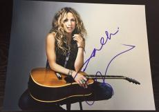 SHERYL CROW SIGNED AUTOGRAPH MUSIC LEGEND GUITAR PROMO SMILE 11x14 NEW PHOTO COA