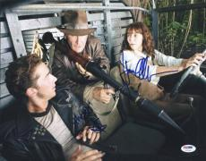 Shia Labeouf & Karen Allen Indiana Jones Signed 11x14 Photo Psa/dna #u72148