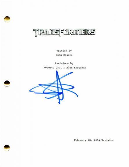 Shia Labeouf Signed Autograph - Transformers Full Movie Script - Megan Fox