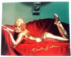 Shirley Eaton Actress JAMES BOND GIRL Goldfinger Sexy Autographed 8x10 Photo 16B