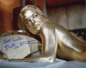 SHIRLEY EATON HAND SIGNED 8x10 COLOR PHOTO+COA      007 SEXY BODY GOLDFINGER