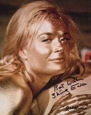 SHIRLEY EATON HAND SIGNED 8x10 PHOTO+COA     007    AMAZING POSE AS GOLDFINGER