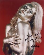 SHIRLEY EATON HAND SIGNED 8x10 PHOTO+COA       007      SEXY POSE AS GOLDFINGER