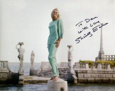 SHIRLEY EATON HAND SIGNED 8x10 PHOTO+COA   BEAUTIFUL ACTRESS  GOLDFINGER TO DAVE