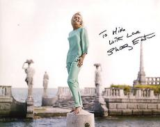SHIRLEY EATON HAND SIGNED 8x10 PHOTO+COA       GORGEOUS ACTRESS    TO MIKE