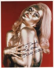 SHIRLEY EATON HAND SIGNED 8x10 PHOTO+COA        SEXY GOLDFINGER      TO DAVID