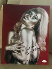 SHIRLEY EATON HAND SIGNED OVERSIZED 11x14 PHOTO   SEXY BOND GIRL GOLDFINGER  JSA