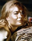 Shirley Eaton James Bond Jsa Coa Hand Signed 8x10 Photo Authenticated Autograph