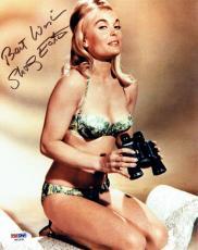 Shirley Eaton Signed James Bond 007 Authentic Autographed 8x10 Photo PSA/DNA COA