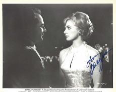 """SHIRLEY JONES as KAREN WILLIAMS in 1964 Movie """"DARK PURPOSE"""" Signed 10x8 B/W Photo"""