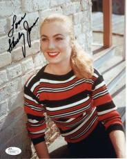 SHIRLEY JONES HAND SIGNED 8x10 COLOR PHOTO     YOUNG+BEAUTIFUL ACTRESS       JSA