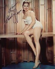SHIRLEY JONES HAND SIGNED 8x10 COLOR PHOTO+COA       GORGEOUS     VERY SEXY LEGS