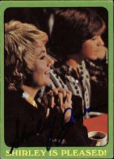 Shirley Jones The Partridge Family Mom Signed Trading Card 1971 Topps #31b Id #3