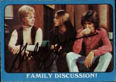 Shirley Jones The Partridge Family Mom Signed Trading Card 1971 Topps #43a Id #3