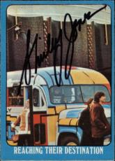 Shirley Jones The Partridge Family Mom Signed Trading Card 1971 Topps #52a Id #3