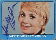 Shirley Jones The Partridge Family Mom Signed Trading Card 1971 Topps #55a Id #3