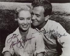 SHIRLEY JONES+PAT BOONE HAND SIGNED 8x10 PHOTO+COA   SIGNED BY BOTH   APRIL LOVE