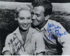 SHIRLEY JONES+PAT BOONE HAND SIGNED 8x10 PHOTO+COA    SIGNED BY BOTH     TO MIKE