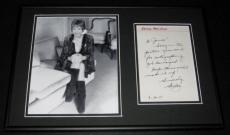 Shirley Maclaine SEXY Signed Framed 12x18 Letter & Photo Set
