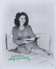 Shirley Temple autographed signed auto vintage 8x10 B&W photo dated 1996 JSA COA