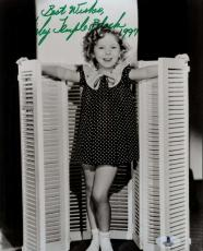 Shirley Temple Bas Beckett Authentication Coa Hand Signed 8x10 Photo Autograph