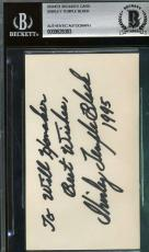 Shirley Temple Bas Beckett Authentication Signed 3x5 Index Card Autograph