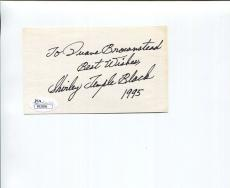 SHIRLEY TEMPLE BLACK HAND SIGNED 3x5 CARD+JSA      GREAT CHILD ACTRESS
