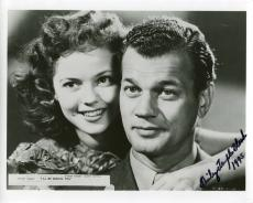 SHIRLEY TEMPLE BLACK HAND SIGNED 8x10 PHOTO+COA    AWESOME+RARE   JOSEPH COTTEN