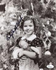 SHIRLEY TEMPLE BLACK HAND SIGNED 8x10 PHOTO+COA     ADORABLE CHILD ACTRESS   JSA