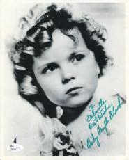 SHIRLEY TEMPLE BLACK HAND SIGNED 8x10 PHOTO+ JSA      RARE     GREAT YOUNG POSE
