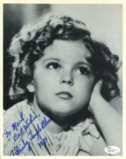 SHIRLEY TEMPLE BLACK HAND SIGNED 8x10 PHOTO+JSA         YOUNG+ADORABLE ACTRESS