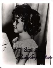 "SHIRLEY TEMPLE BLACK-Movies Include ""BRIGHT EYES"", ""CURLY TOP"",  and ""HEIDI"" Signed 8x10 B/W Photo"