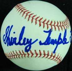 Shirley Temple Black Single-Signed OML Baseball (PSA/DNA)