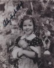 Shirley Temple Cute Hand Signed Autographed Bw Photo We Want Shirley!!!