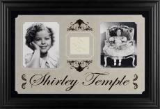 "Shirley Temple Deluxe Framed Autographed 30"" x 19"" Photograph - PSA/DNA COA"