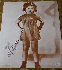 Shirley Temple Jsa Coa Hand Signed 11x14 Photo Authenticated Autograph