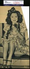 Shirley Temple Jsa Coa Hand Signed 1940`s 4x8 Photo Authentic Autograph