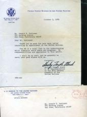 Shirley Temple Jsa Coa Hand Signed 1969 Letter Authentic Autograph