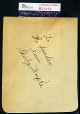 Shirley Temple Jsa Coa Hand Signed Album Page Authenticated Autograph