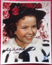 Shirley Temple signed 8x10 Color photo BAS Beckett Authentication