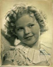"Shirley Temple ""To Estelle Love"" Signed 11X14 Sepia Photo BAS #A02046"