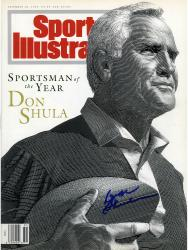 Don Shula Miami Dolphins Autographed Sportsman of Year Sports Illustrated No Label  - Mounted Memories