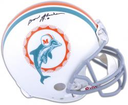 "Don Shula Miami Dolphins Autographed Pro-Line Riddell Authentic Helmet with ""17-0"" Inscription - Mounted Memories"