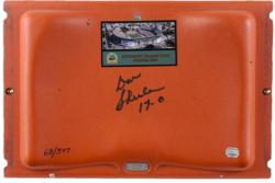 Don Shula Miami Dolphins Autographed Orange Bowl Seat with 17-0 Inscription-Limited Edition of 347
