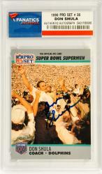 Don Shula Miami Dolphins Autographed 1990 Pro Set SB #30 Card