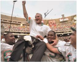 Miami Dolphins Don Shula Signed 16'' x 20'' Photo - Mounted Memories