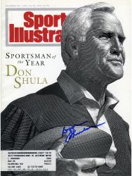 Don Shula Miami Dolphins Autographed Sportsman of Year Sports Illustrated  - Mounted Memories