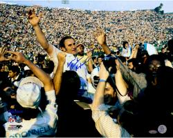 Don Shula Miami Dolphins Fanatics Authentic Autographed 16'' x 20'' On Shoulders Photograph with Perfection inscription