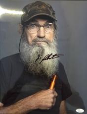 Si Robertson Duck Dynasty Signed 11x14 Photo Jsa N35236