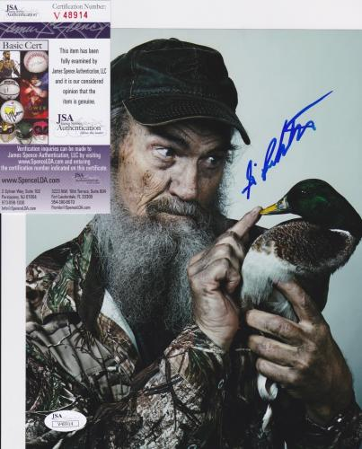 SI ROBERTSON Uncle SI Signed DUCK DYNASTY 8x10 photo + JSA COA V48914
